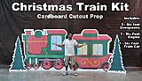 Christmas Train Kit Cardboard Cutout Standup Prop