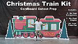 Christmas Train Kit Cardboard Cutout Standup Prop