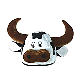 Plush Cow Head-Hat