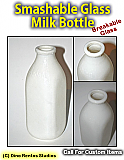 Vintage Dairy Milk Bottle Smashable Prop