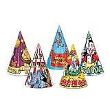 Circus Birthday Hats 7""