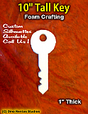 10 Inch Key Foam Shape Silhouette