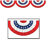 """Jointed Patriotic Bunting Cutout 12"""" x 6'"""