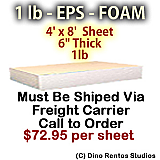 EPS Foam Sheet - 1 lb Density - 48x96x6