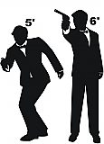 Spy Silhouettes Cardboard Cutout Standup Prop