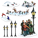 "Lampposts, Carolers & Winter Fun Props 21"" x 50"""