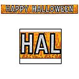 """Metallic Happy Halloween Banner 10"""" x 9'"""