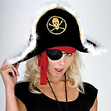 Plush Pirate Captain's Hat - Adult