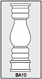 BA10 - Architectural Foam Shape - Baluster