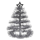 "Christmas Tree Centerpiece 16"" Silver"
