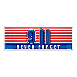 9/11 Never Forget Sign Banner