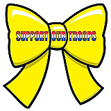 Support Our Troops Ribbon Cutout 10""