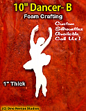 10 Inch Dancer B Foam Shape Silhouette