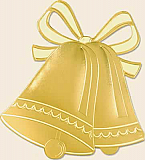 Gold Foil Bell Silhouette 16½""