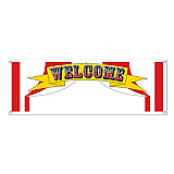 Welcome Sign Banner 5&#039; x 21&quot;