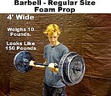 Foam Barbell Prop - Regular Size