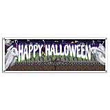 Happy Halloween Sign Banner Vinyl