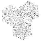 """Silver Foil Snowflake Cutouts 15"""""""