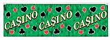 """FR Metallic Casino Fringe Banner 14"""" x 4'"""