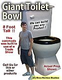 Giant Toilet Bowl/Commode Foam Prop