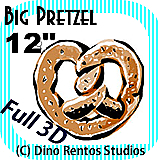 Big Giant Foam Pretzel Prop 12 Inches