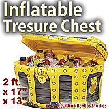 Inflatable Pirate's Treasure Chest Cooler