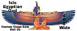 Egyptian Isis Cardboard Cutout Standup Prop