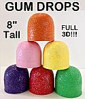 Giant Foam Gumdrop Props - 8 Inch