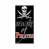 "Beware Of Pirates Door Cover 30"" x 5'"