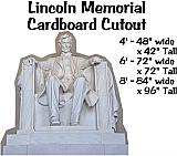 Lincoln Memorial Cardboard Cutout Standup Prop