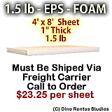EPS Foam Sheet - 1.5 lb Density - 48x96x1