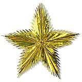 "Leaf Starburst 24"" Gold"