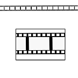 "Filmstrip Poly Decorating Material 3"" x 50'"