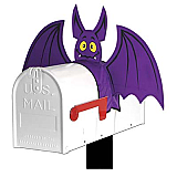 "Bat Mailbox Cover 20"""