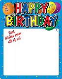 "Happy Birthday Partygraph 23"" x 18"""