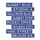 "Hollywood Sign Cutouts 4"" x 24"""