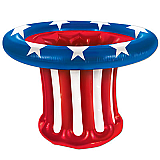 Inflatable Patriotic Hat Cooler 27""