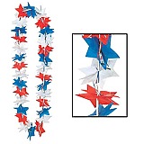 "Patriotic Star Party Lei 36"""