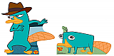 Agent P and Perry - Phineas and Ferb Cardboard Cutout Standup Prop