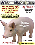 3D Foam Cartoon Pig Prop