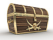 Treasure Chest Cardboard Cutout Standup Prop