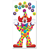 "Birthday Clown Door Cover 30"" x 5'"