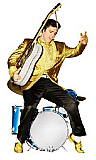 Elvis Drums (Talking) - Elvis Cardboard Cutout Standup Prop