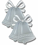 Silver Foil Bell Silhouette 16½""