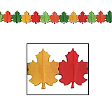 "Fall Leaf Garland 9"" x 12'"