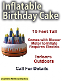 Inflatable Birthday Cake Prop - 10 Foot Tall
