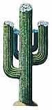 "Jointed Cactus 4' 3"" cardboard cutout prop"