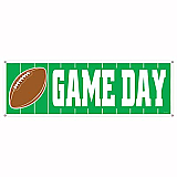 """Game Day Football Sign Banner 5' x 21"""""""