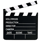 "Movie Set Clapboard Prop 7"" x 8"""