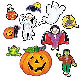 "Halloween Cutouts 5""-12"""